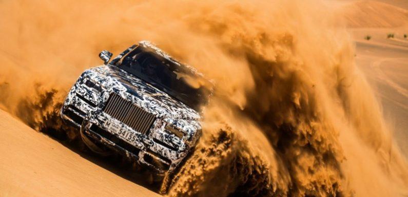 Внедорожник Rolls-Royce Cullinan испытали в дюнах Дубая (видео)
