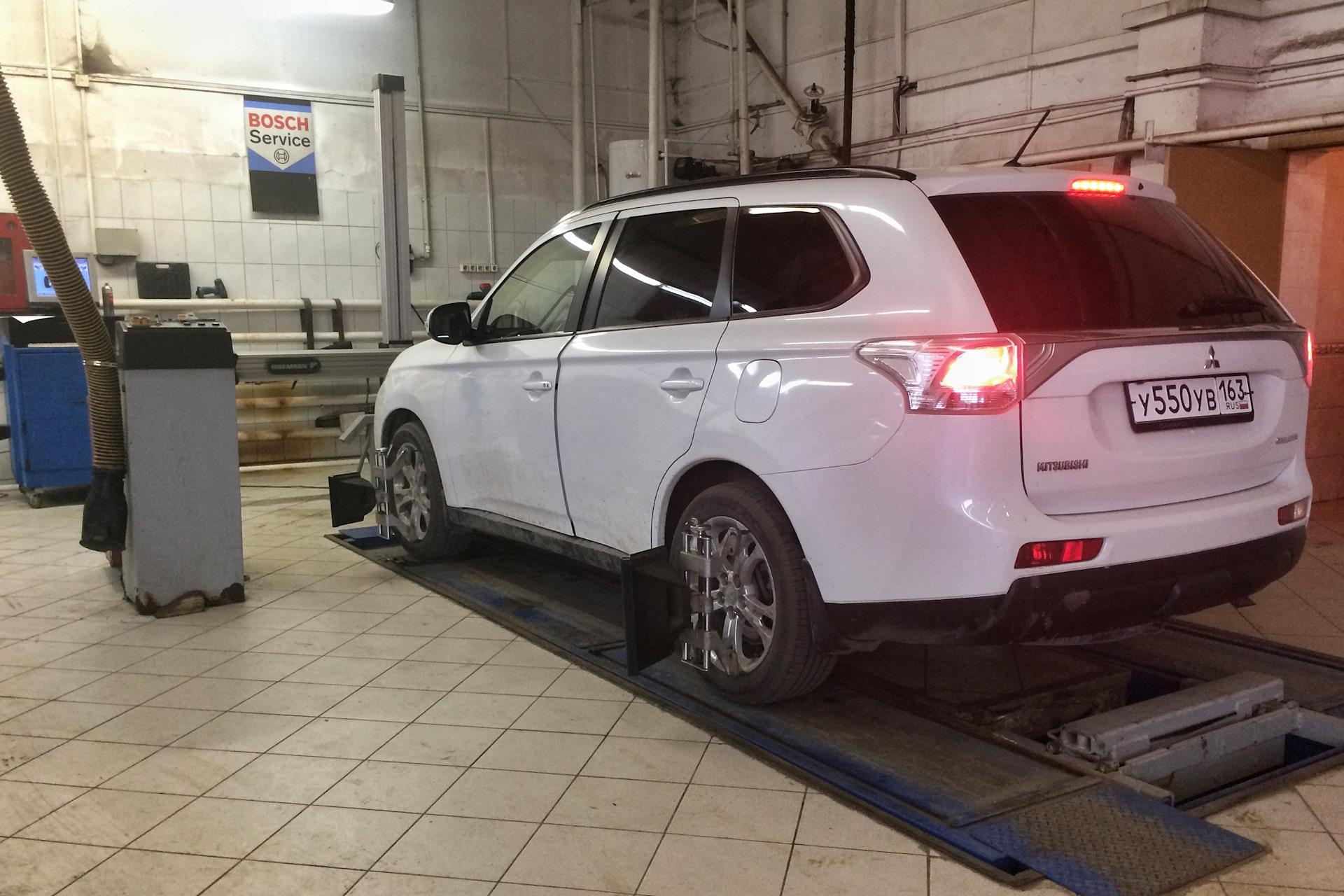Автомобильный развал Мицубиси