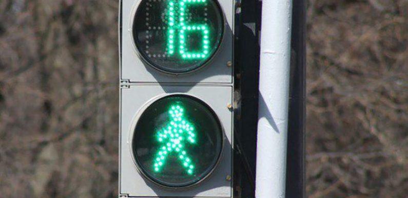 Время красного сигнала для пешеходов ограничат 45 секундами