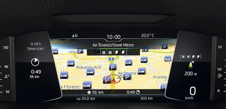 Российские Skoda получили виртуальную приборную панель