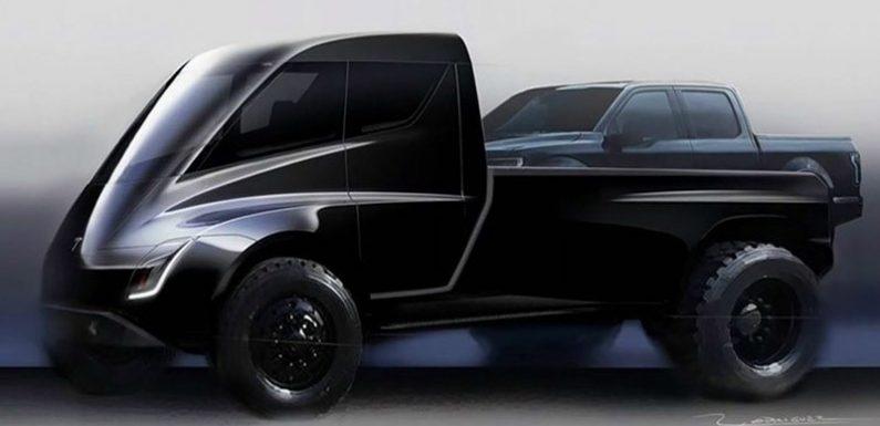 Пикап Tesla получит два электромотора