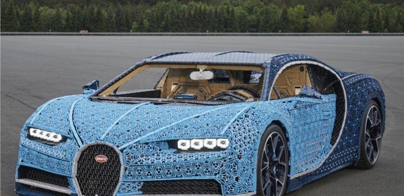 Bugatti Chiron построили из кубиков LEGO
