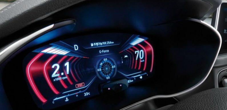 Genesis G70 с трёхмерной графикой